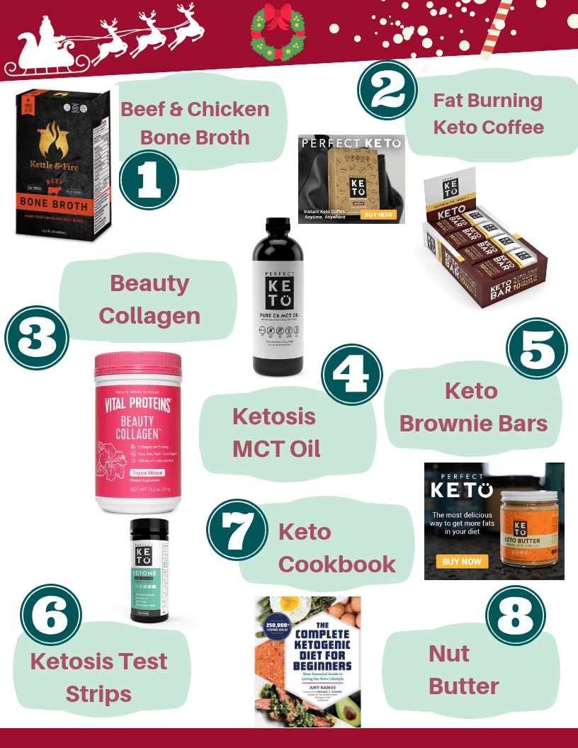 The Best Keto Diet Starter Gift Guide and Plan for Beginners is great for unique holiday gift ideas. This guide is also great for someone who is new to the ketogenic lifestyle or for someone is already in ketosis and looking for options to help support the keto diet.
