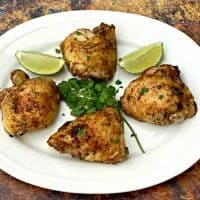 Easy Air Fryer Cilantro Lime Marinated Chicken Thighs