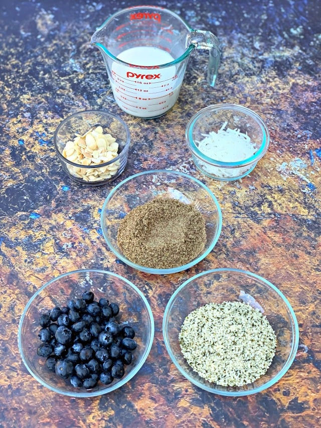 ingredients for keto hemp oatmeal
