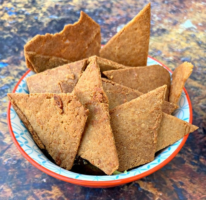 Keto Low-Carb Gluten-Free Homemade Tortilla Chips + {VIDEO}