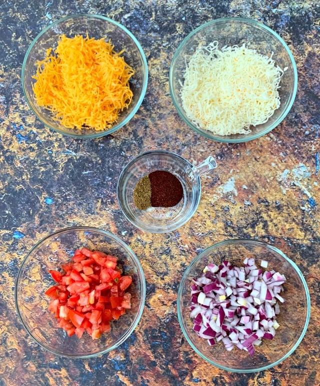 ingredients for air fryer chicken quesadillas