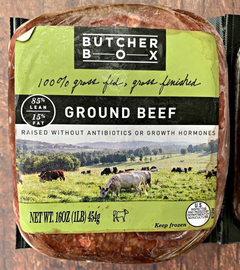 butcher box ground beef in packaging