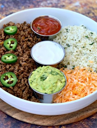 Easy, 30-Minute Keto Taco Bowls with Cauliflower Rice