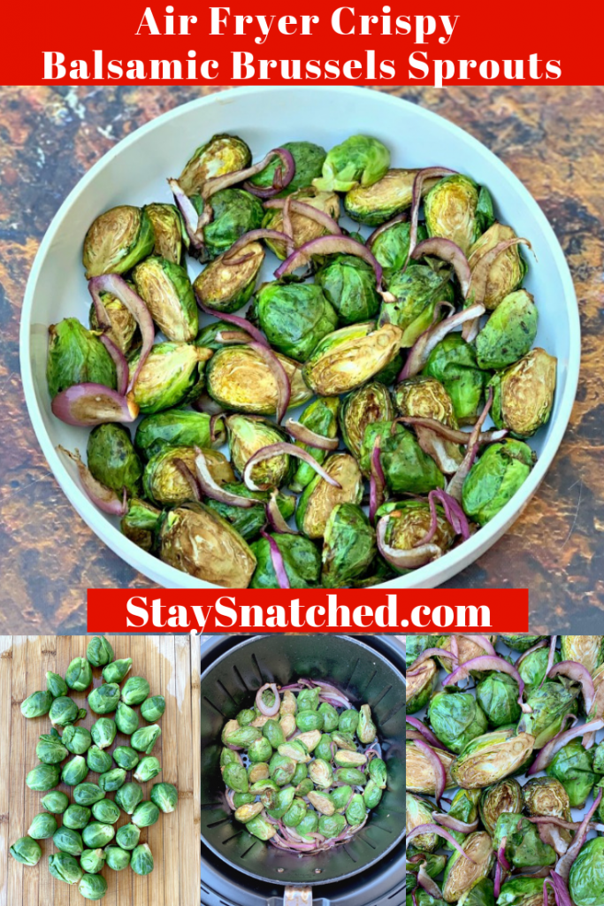 crispy air fryer balsamic brussels sprouts