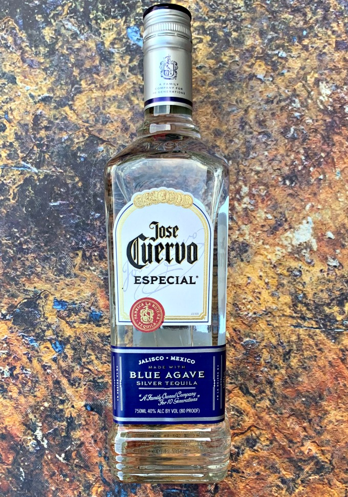 jose cuervo silver in a glass bottle