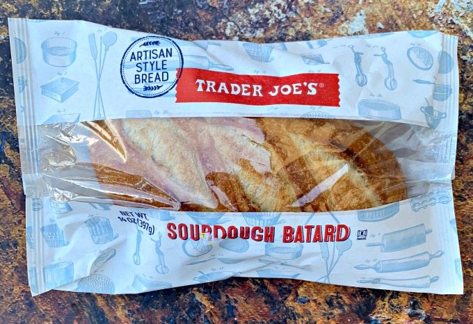 package of Trader Joe's sourdough bread