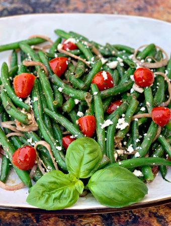 Easy, Cold and Fresh Balsamic Green Bean Salad