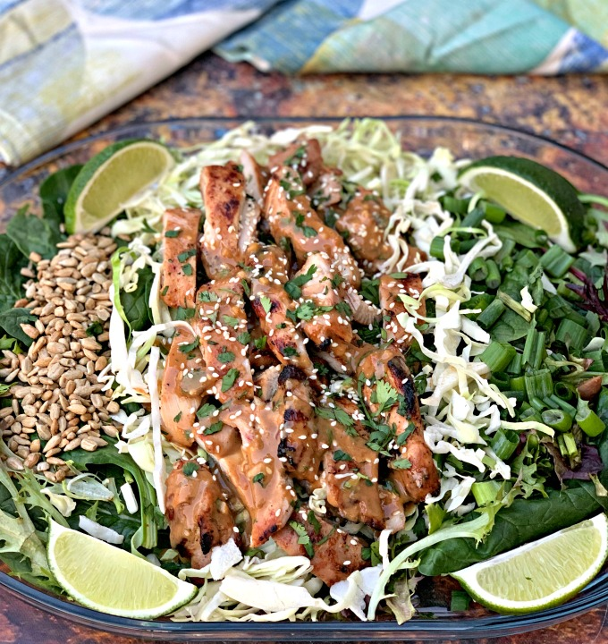 Chopped Thai Grilled Chicken Salad (Panera Copycat)