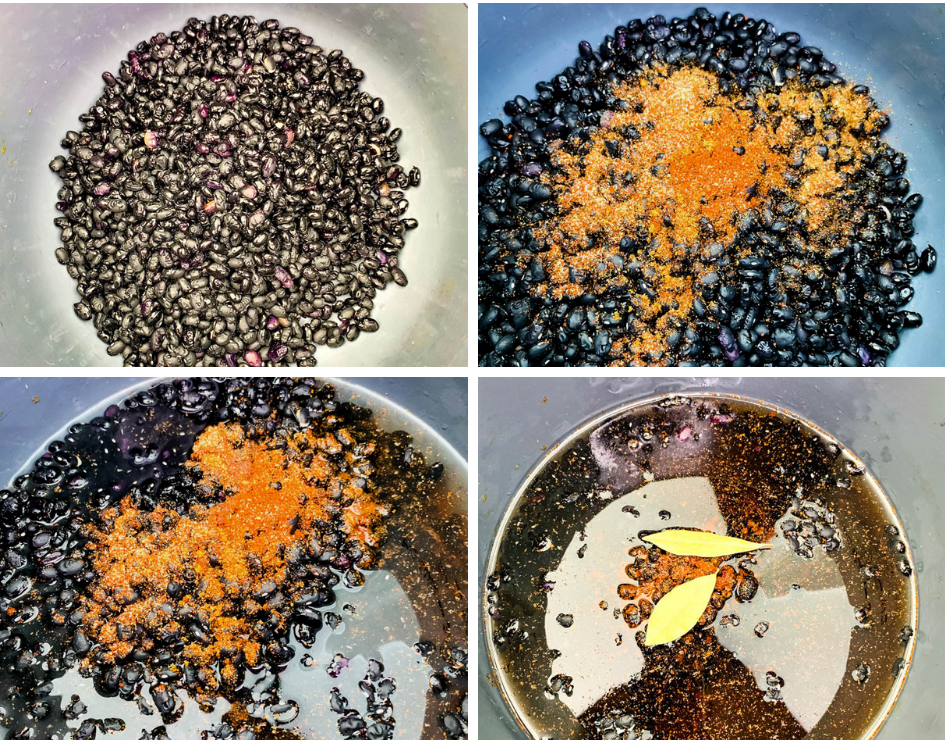 collage photo of black beans in an Instant Pot