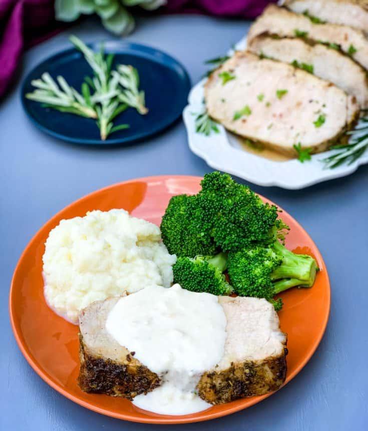 Easy, Air Fryer Italian Herb Pork Loin