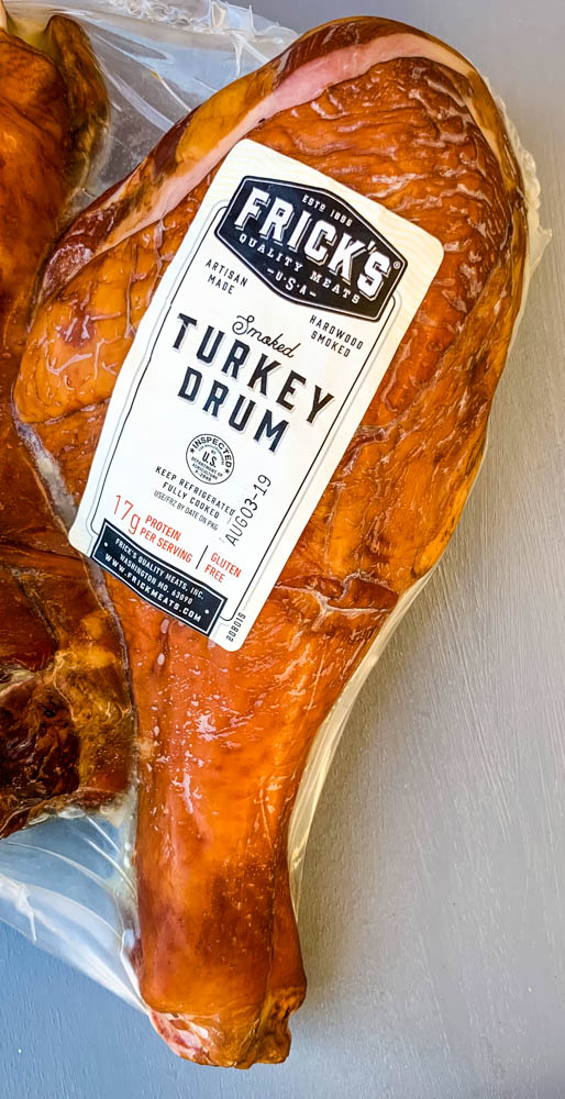 smoked turkey leg in a package