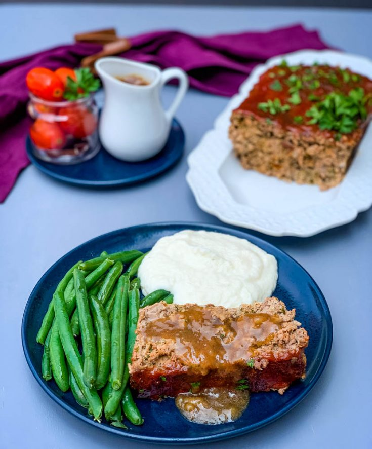 Easy, Keto Low-Carb Meatloaf with Glaze