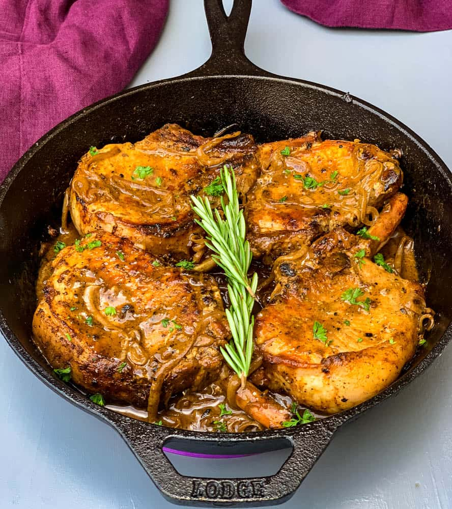 Keto Low Carb Smothered Pork Chops Video