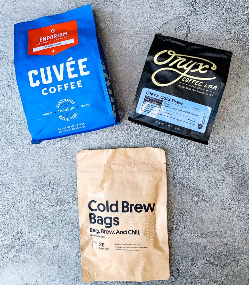 trade cold brew coffee and cold brew bags