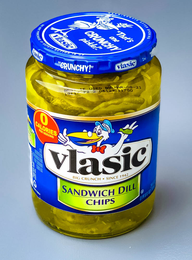 sandwich pickles in a jar