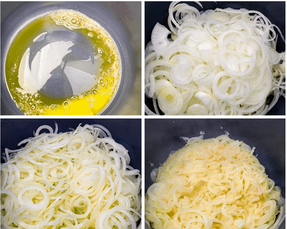 caramelized onions in an Instant Pot