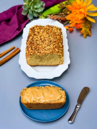 keto low carb zucchini bread with almond butter