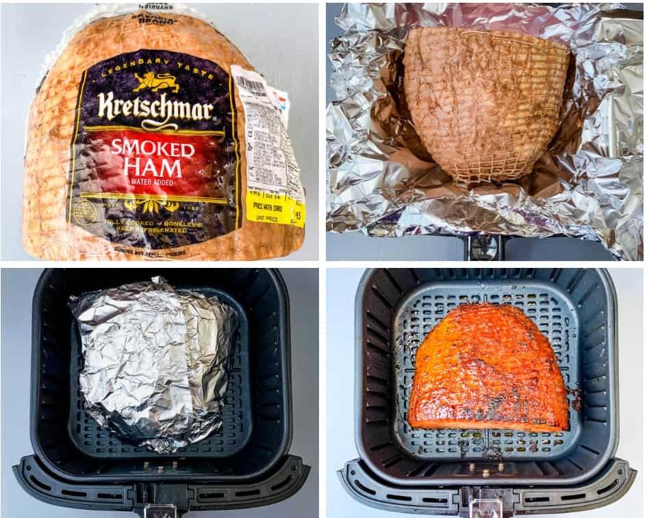 a boneless ham in an air fryer