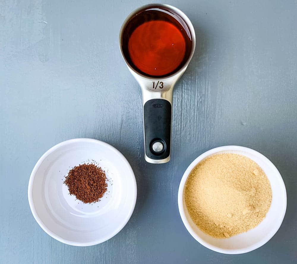 honey, ground cloves, and brown sugar for air fryer honey glazed ham