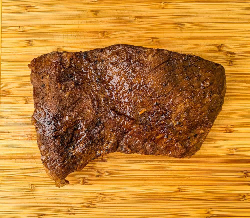 Instant Pot Brisket on a cutting board