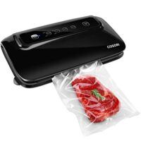 COSORI Vacuum Sealer with Built-in Roll Storage & Cutter, Automatic Food Saver Vacuum Sealer Machine, Starter Bags, Hose, Dry & Moist Food Modes, LED Indicator Lights, FDA Compliant,2 Year Warranty