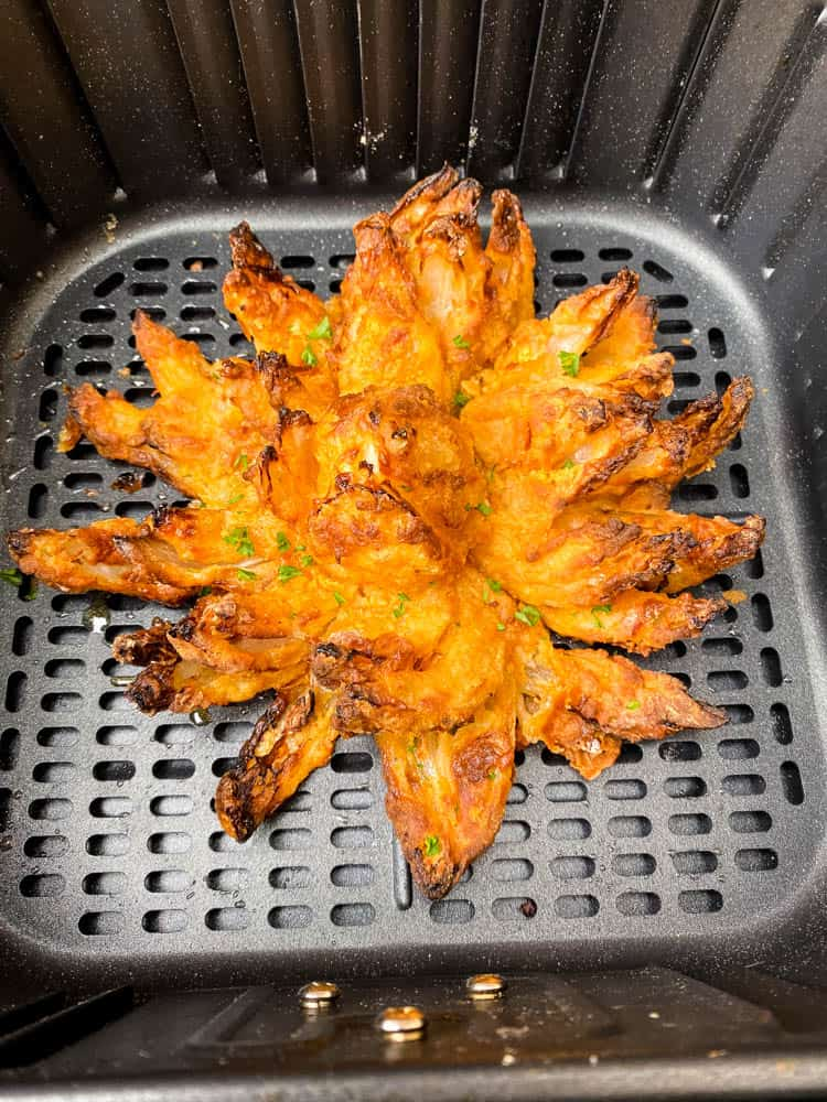 air fryer blooming onion in an air fryer