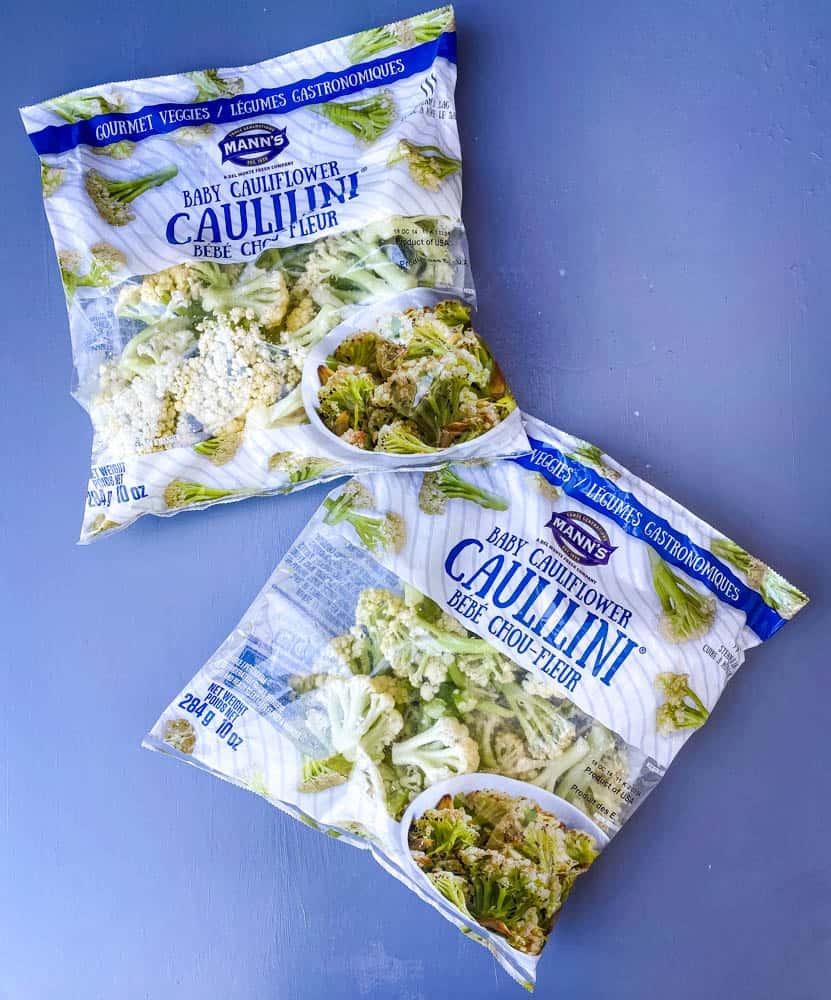 fresh caulilini in steamable bags