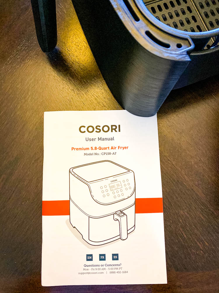 Cosori 5.8 quart user manual