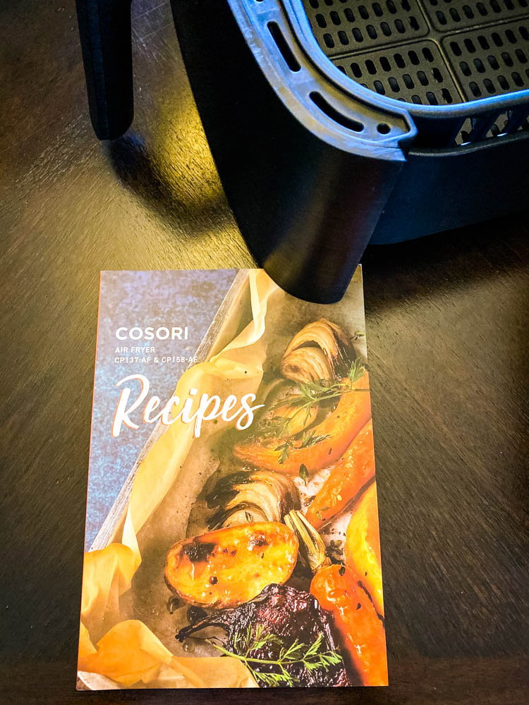 Cosori air fryer recipe book