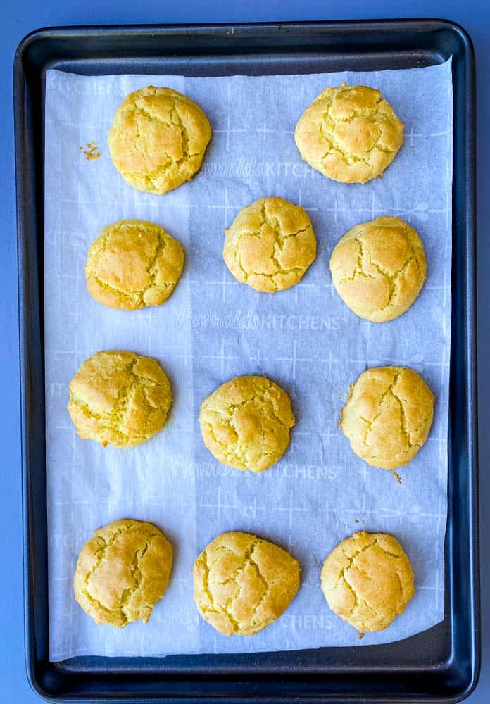 keto low carb biscuits on parchment paper