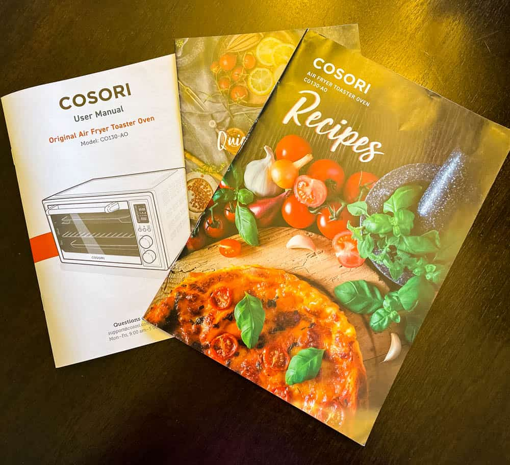 cosori air fryer oven recipe book and user manual