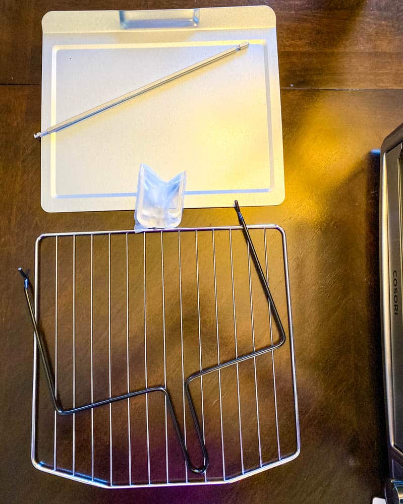 cosori air fryer oven rotisserie handles