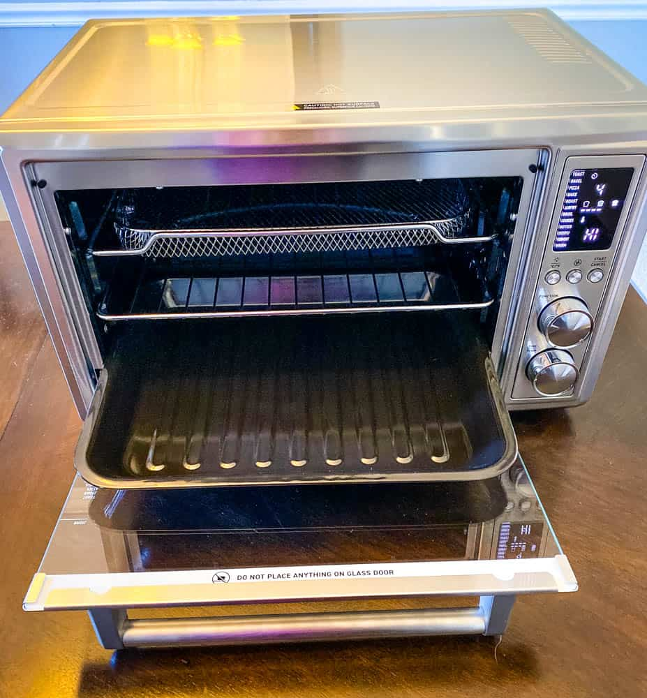 cosori air fryer toaster oven on a table