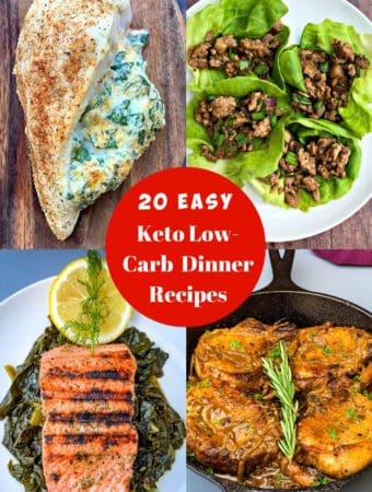 20 keto dinner recipes photo collage