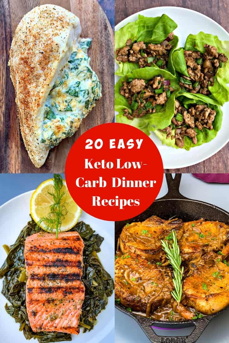 20 keto dinner recipes photo collage