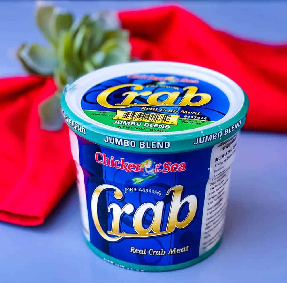jumbo lump crab in a can for crab rangoon dip