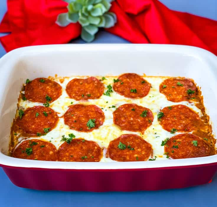 Easy Keto Low-Carb Pizza Casserole