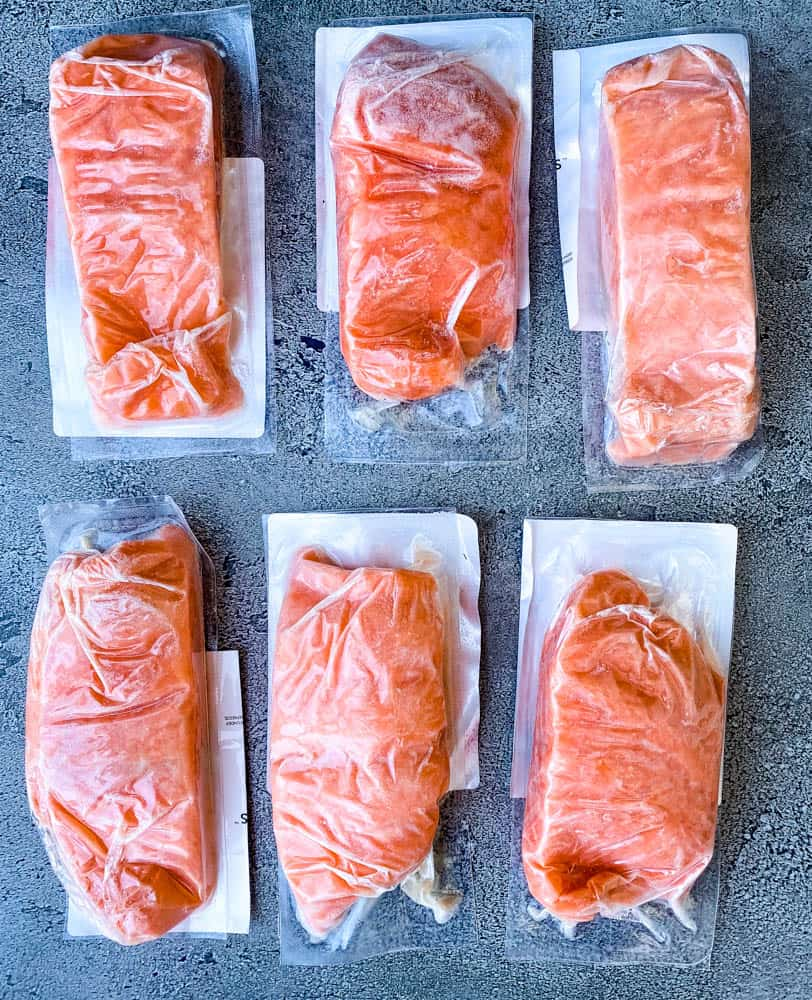wild caught salmon in packaging for Rastelli meat delivery