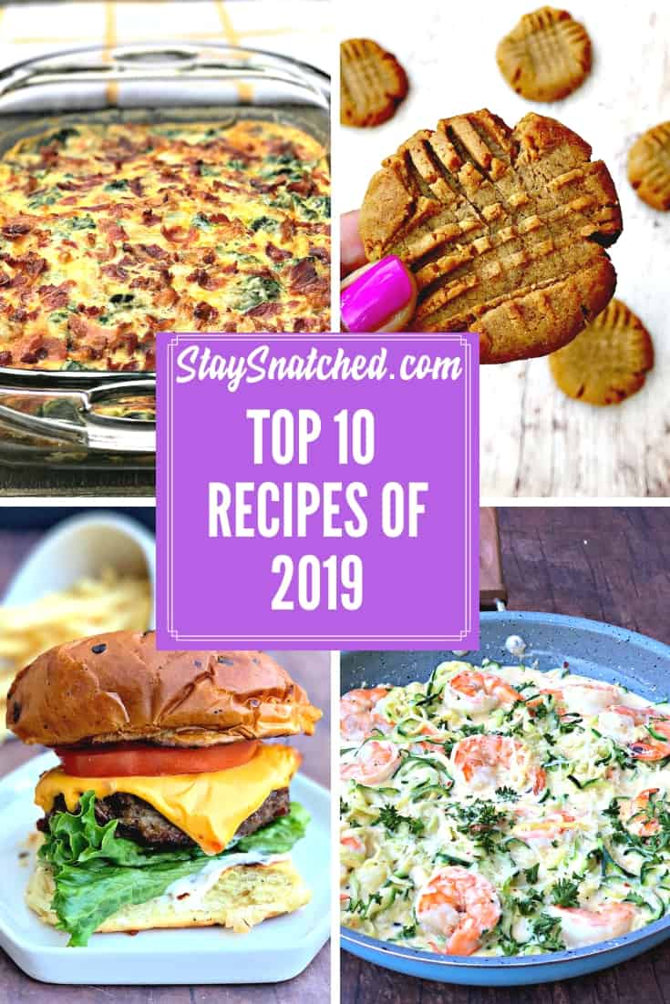 top 10 recipes on 2019 photo collage