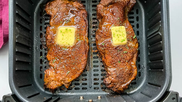 steaks in air fryer with butter