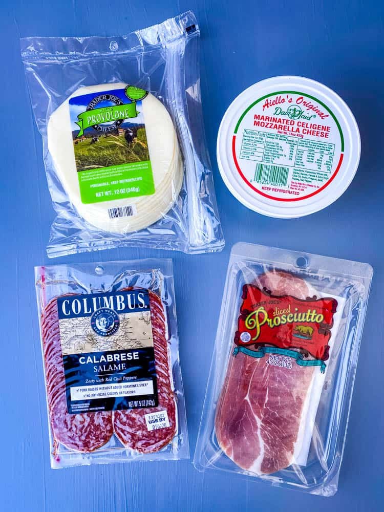 cured meats prosciutto and salami for antipasto salad recipe