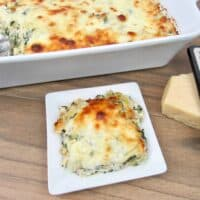 Spinach Artichoke Chicken Casserole - Keto and Low Carb