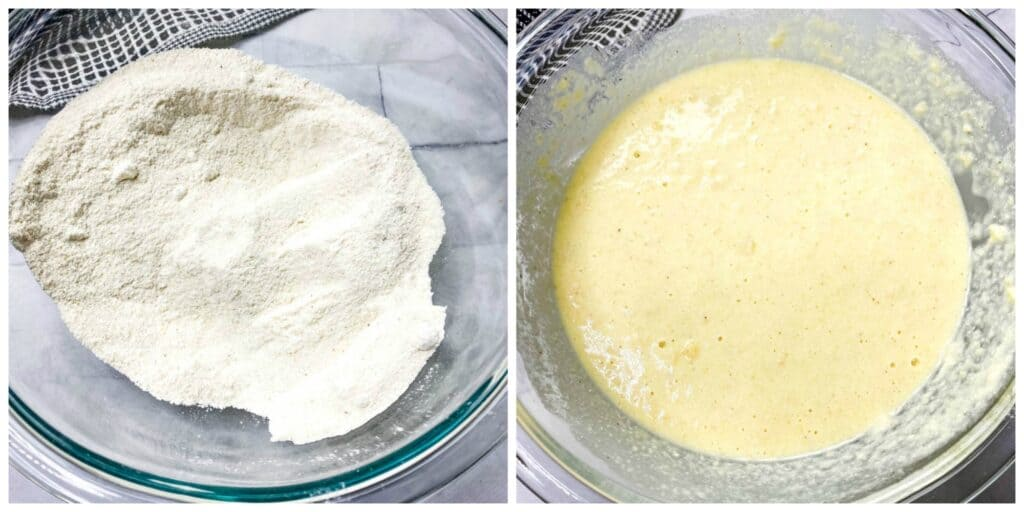dry and wet batter for cornbread