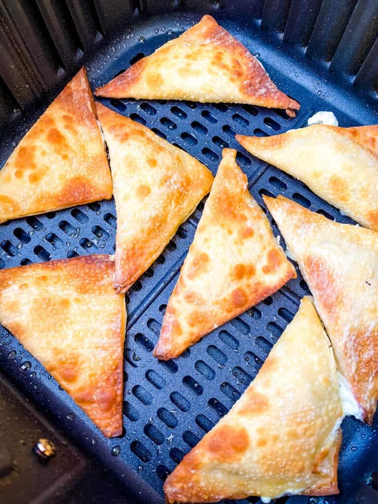 fried wontons in an air fryer