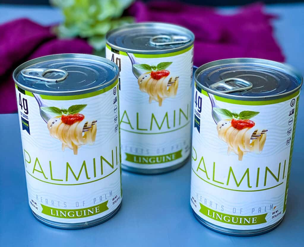 Palmini linguine pasta in a can