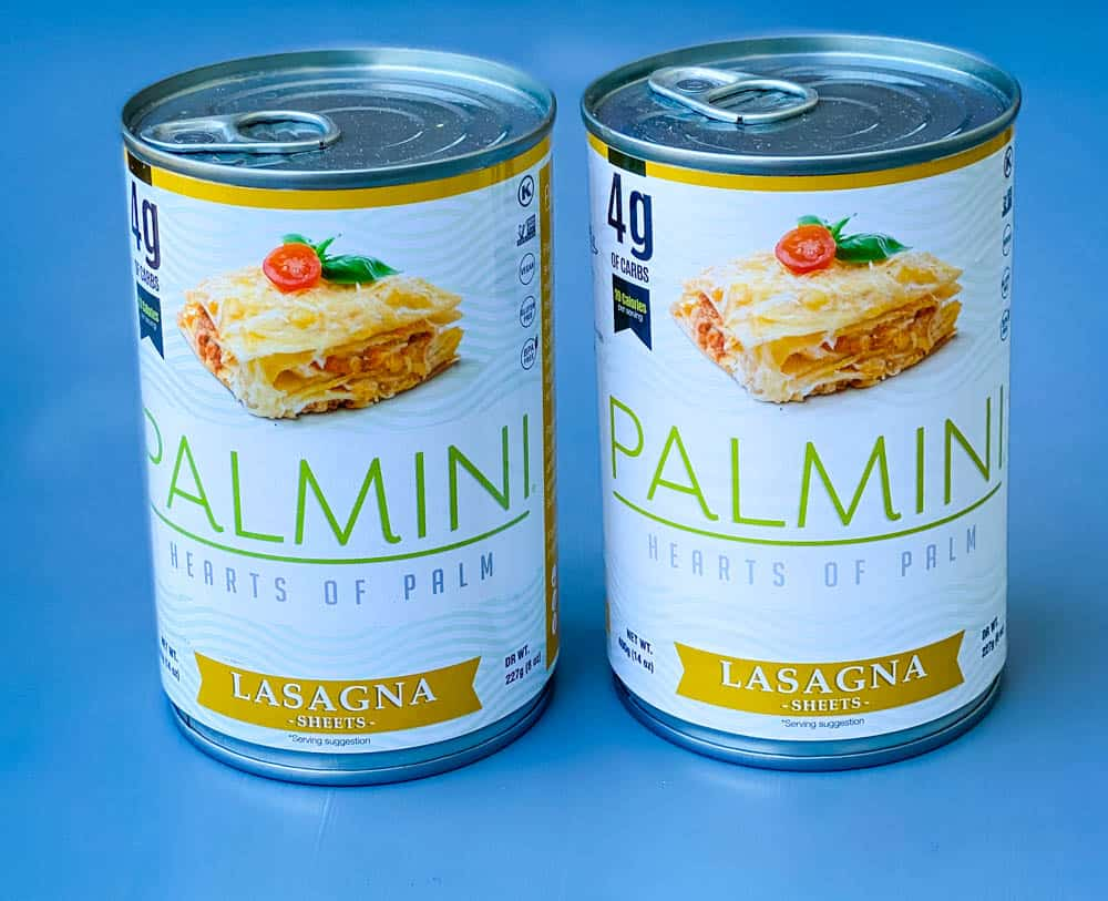 Palmini hearts of palm lasagna sheets in a can