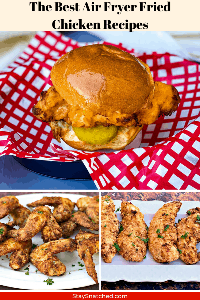 air fryer fried chicken recipes collage photo