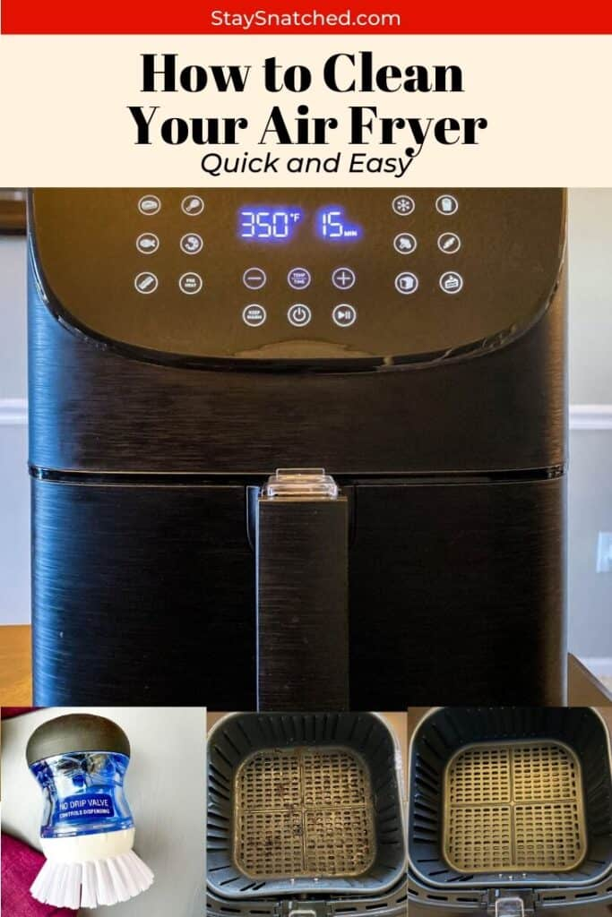 how to clean your air fryer pinterest collage photo