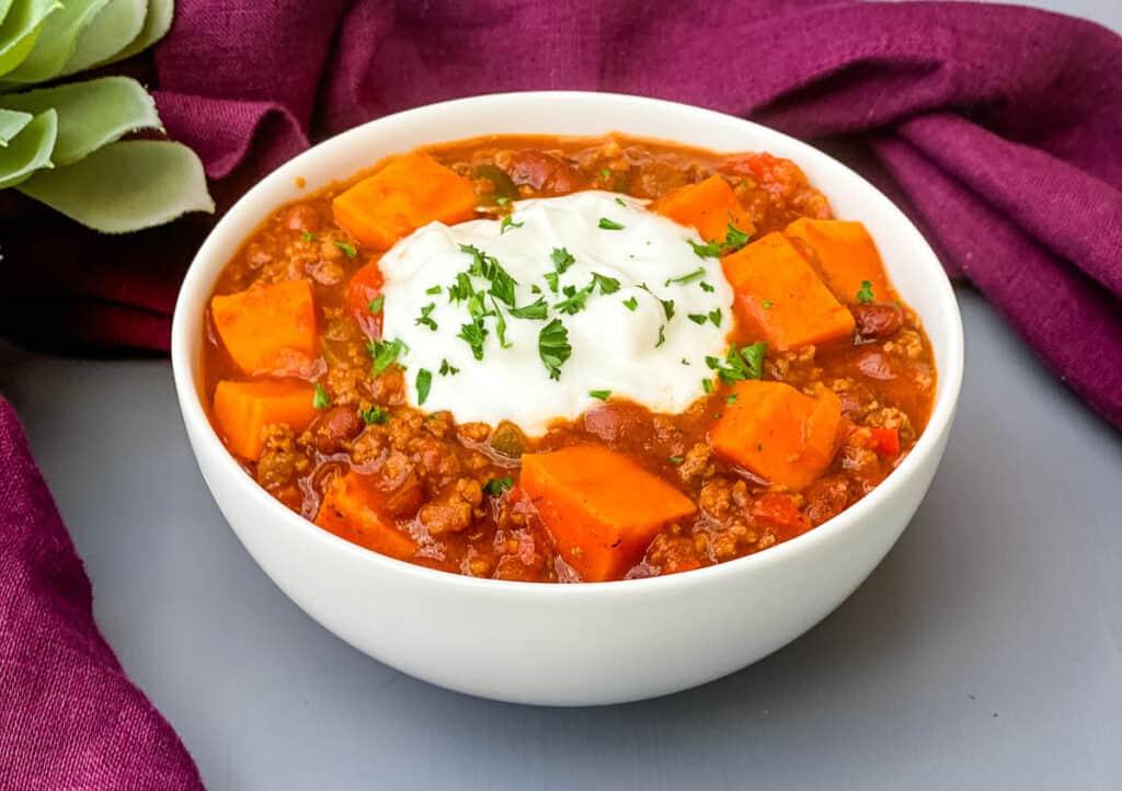 Easy Sweet Potato Beef Chili Video