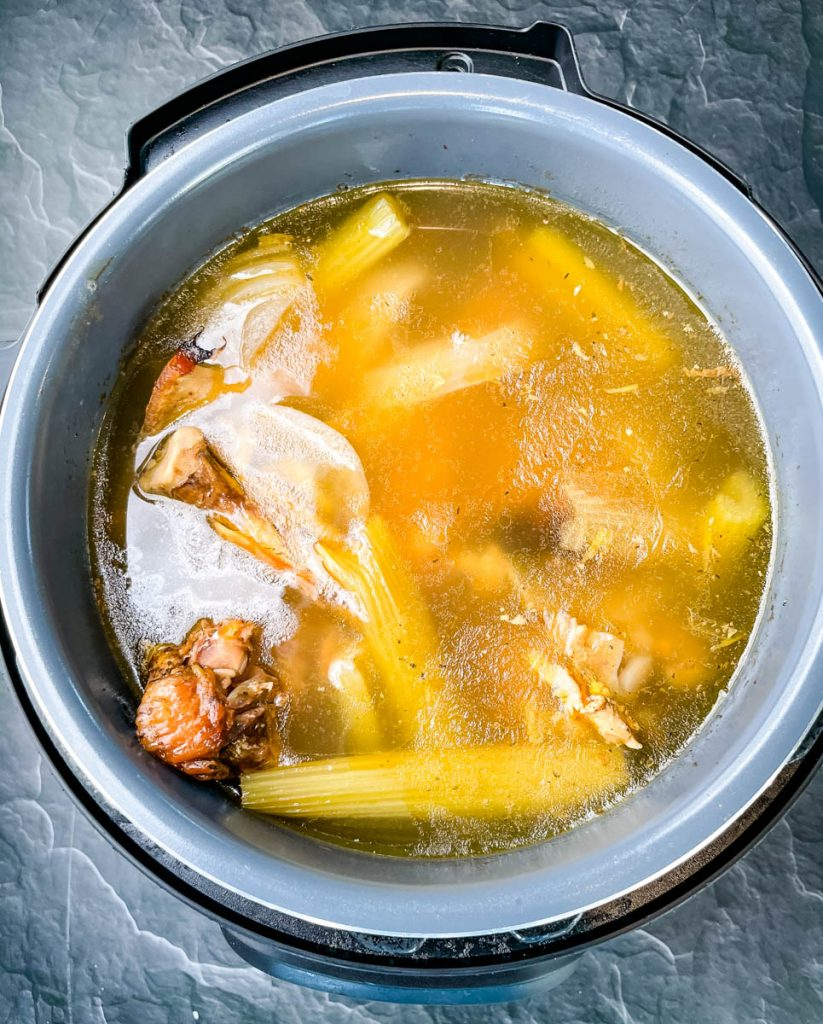 turkey bone broth in an Instant Pot